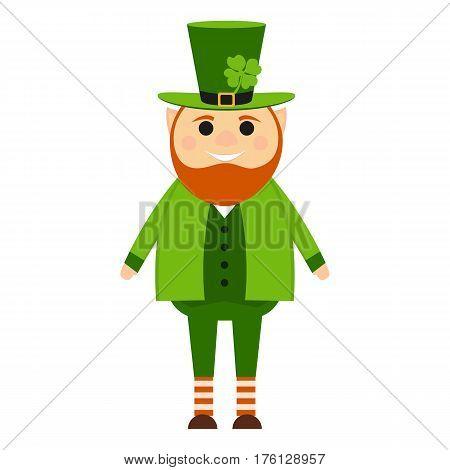 Cartoon leprechaun on St. patrick's day vector