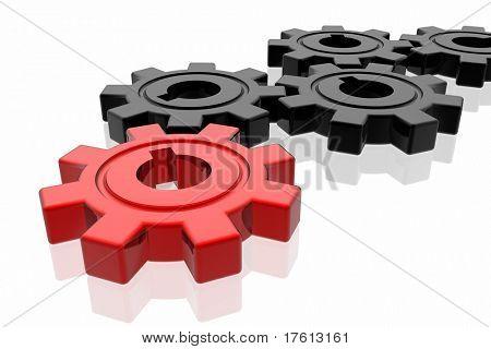Gear business work concept
