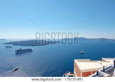 Santorini - The Islands Nea Kameni And Palea Kameni