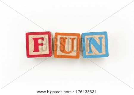 Wooden Blocks Spelling