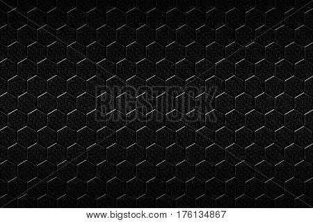 Black Carbon Fiber Hexagon Pattern.