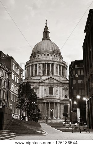 St Pauls Cathedral in the mornign in London.