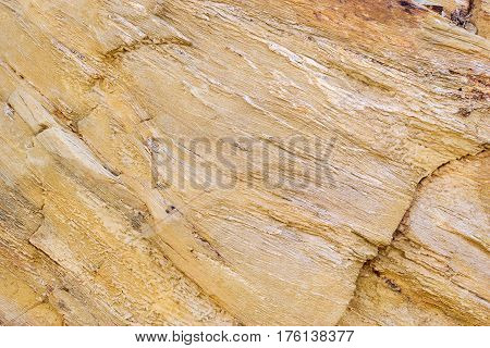 Slice mountain shale texture of stone mountain wall. Stone trail in mountain dangerous path to top of stone landslides. Village Bali Crete island Greece