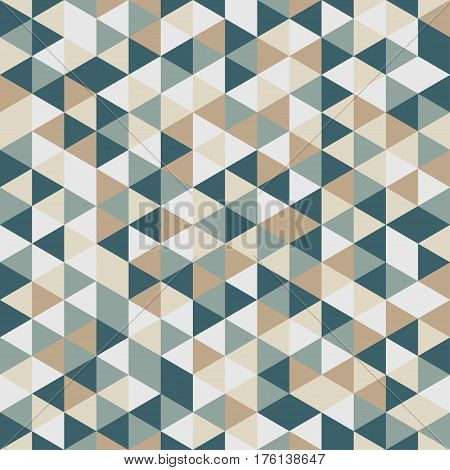 Abstract Triangle Geometrical Multicolored Background. Seamless Color Pattern.