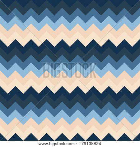 Chevron pattern seamless vector arrows geometric design colorful beige dark blue naval aqua