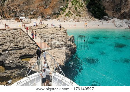 Cala Mariolu Beach On Sardinia, Italy