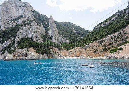 Cala Goloritze Beach On Sardinia, Italy