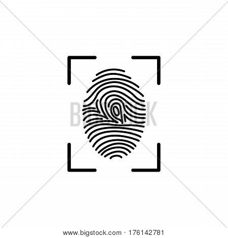 Fingerprint line icon. Vector design template elements for your application or corporate identity.