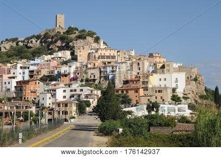 Posada, Italy 25 June 2013: The village of Posada on the island of Sardinia, Italy
