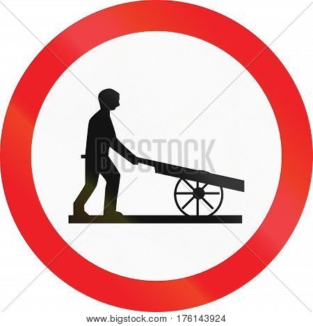 Cyprian Regulatory Road Sign - No Handcarts