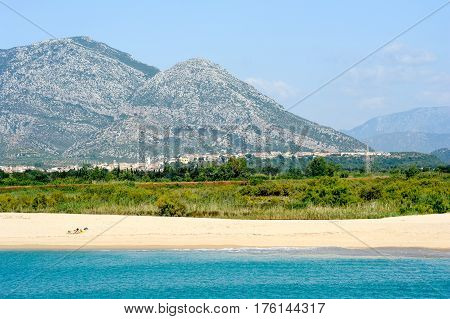 Marina Di Orosei Beach On Sardinia, Italy