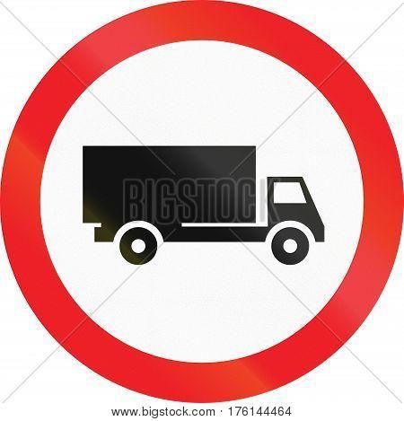 Road Sign Used In Cyprus - No Lorries