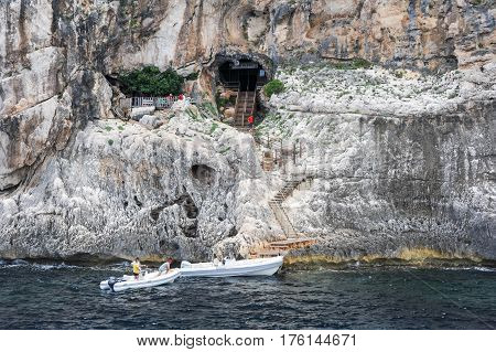 The Cave Of Fico On The Island Of Sardinia, Italy