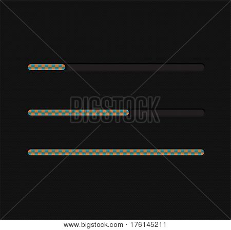 Vector illustration with loading bar. Illustration 10 version