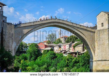Old bridge - Stari most / Mostar - Bosnia and Herzegovina