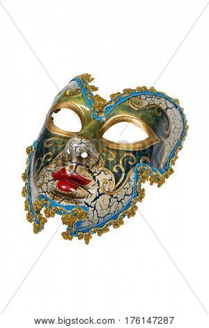 Venetian mask isolated on white with clipping path.