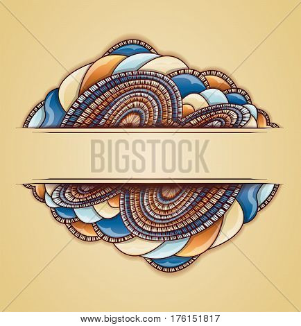 Vector illustration with abstract colorful frame. Illustration 10 version