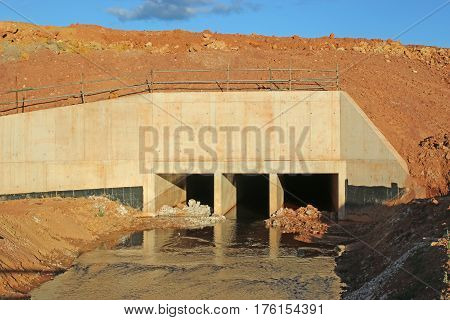 culvert on a new road construction site