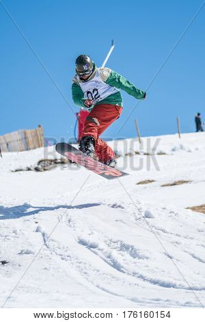 Tiago Sousa During The Snowboard National Championships