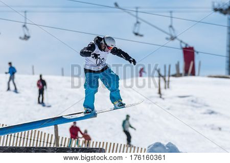 Filipe Silva During The Snowboard National Championships