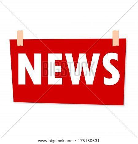 News Sign - illustration on white background
