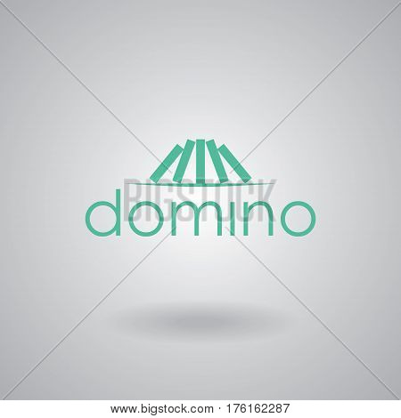 Domino logo vector design. Icon symbol template