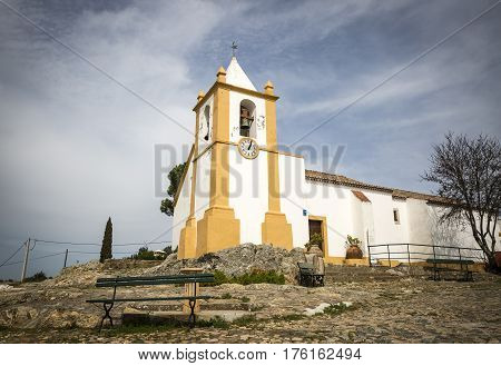 Nossa Senhora das Neves Church in Alter Pedroso village, municipality of Alter do Chão, Portalegre district, Portugal