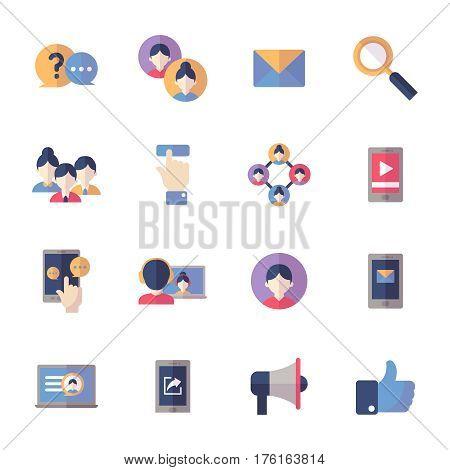 Social Media Icons Set 1 - Flat Series