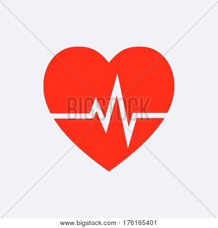 heart beat icon stock vector illustration flat design