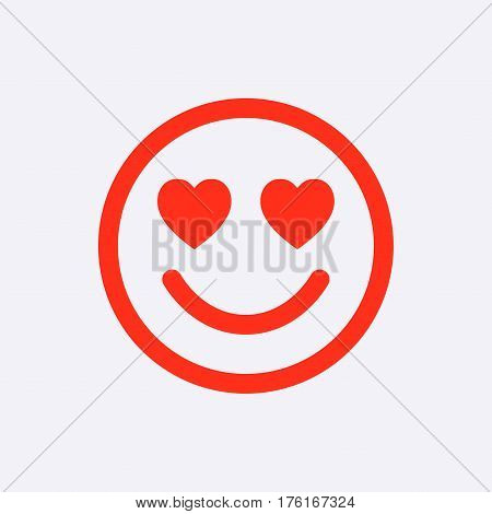 smile with hearts of love icon stock vector illustration flat design