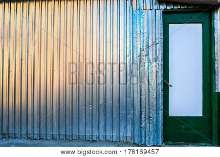 Metallic Rusty Texture Stripe Pattern