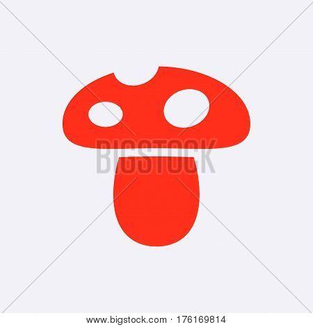 mushroom icon stock vector illustration flat design