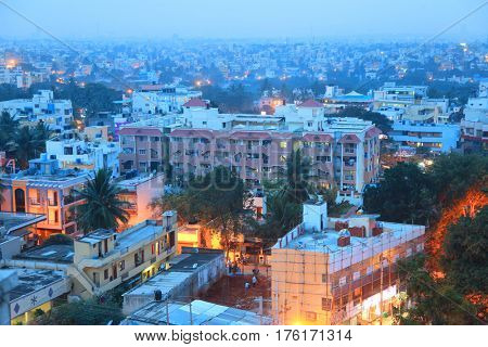 BANGALORE, INDIA - Dec 14: Bangalore city is fifth largest urban area in India on December 14, 2015.