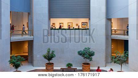 People Visit Metropolitan Museum Of Art In New York.