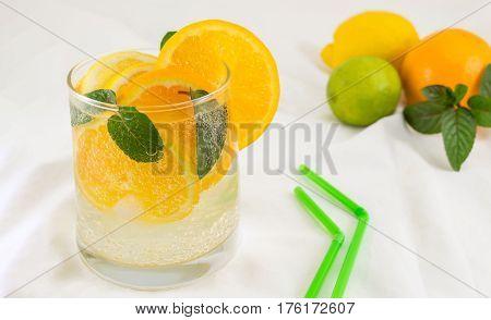 Orange And Sparkling Water Drink