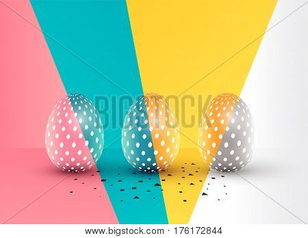 Easter eggs abstract background design. Vector illustration