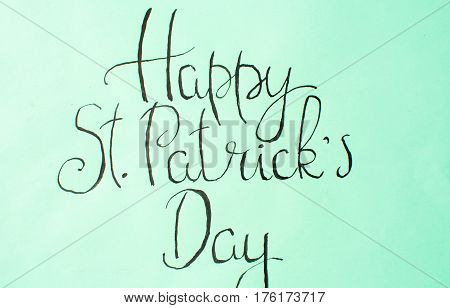 Happy St Patrick Day Calligraphy Card