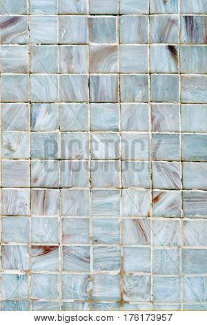 Cyan tile wall / Abstract cyan ceramic tile wall texture.