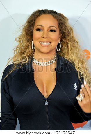Mariah Carey at the Nickelodeon's 2017 Kids' Choice Awards held at the USC Galen Center in Los Angeles, USA on March 11, 2017.