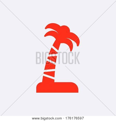 Palm tree icon stock vector illustration flat design