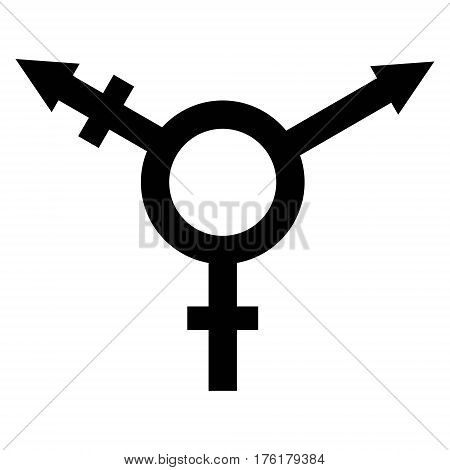 sign symbol of gender equality, Male, female and transgender equality concept. The equality of men and women. Equal rights concept. Gender equality.