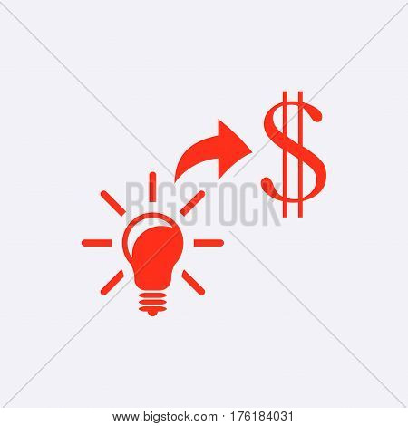 good idea moneyicon stock vector illustration flat design