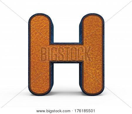 Brown Letter H