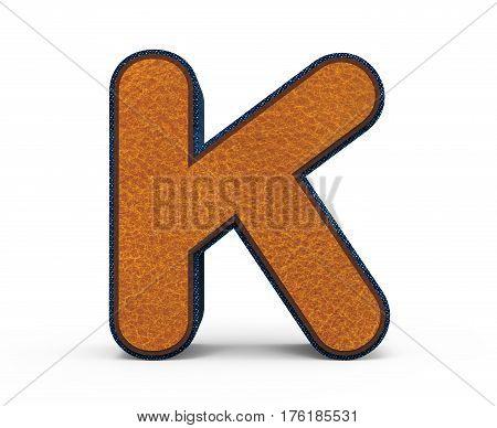 Brown Letter K