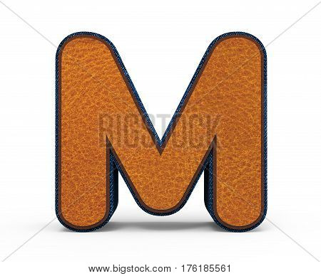Brown Letter M