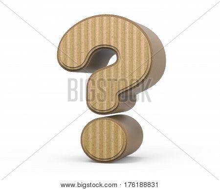 Corrugated Question Mark