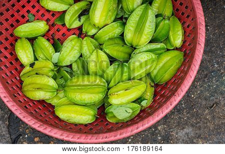 Carambola Fruits Was Managed For Sale