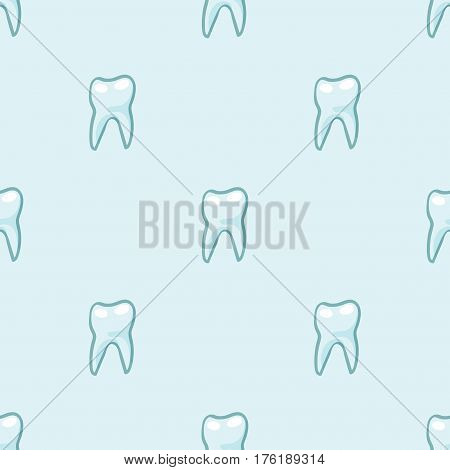 Seamless pattern. White teeth on blue background. Vector Texture for scrapbooking, wrapping paper, textiles, web page, wallpapers, surface design, fashion
