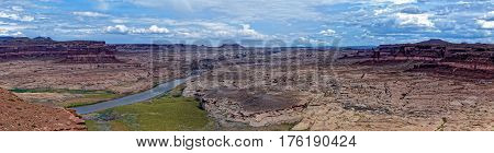 Panorama View of Colorado River in Glen Canyon National Recreation Area