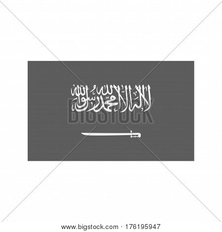 Saudia Arabia, flag, national icon vector image. Can also be used for flags. Suitable for web apps, mobile apps and print media.